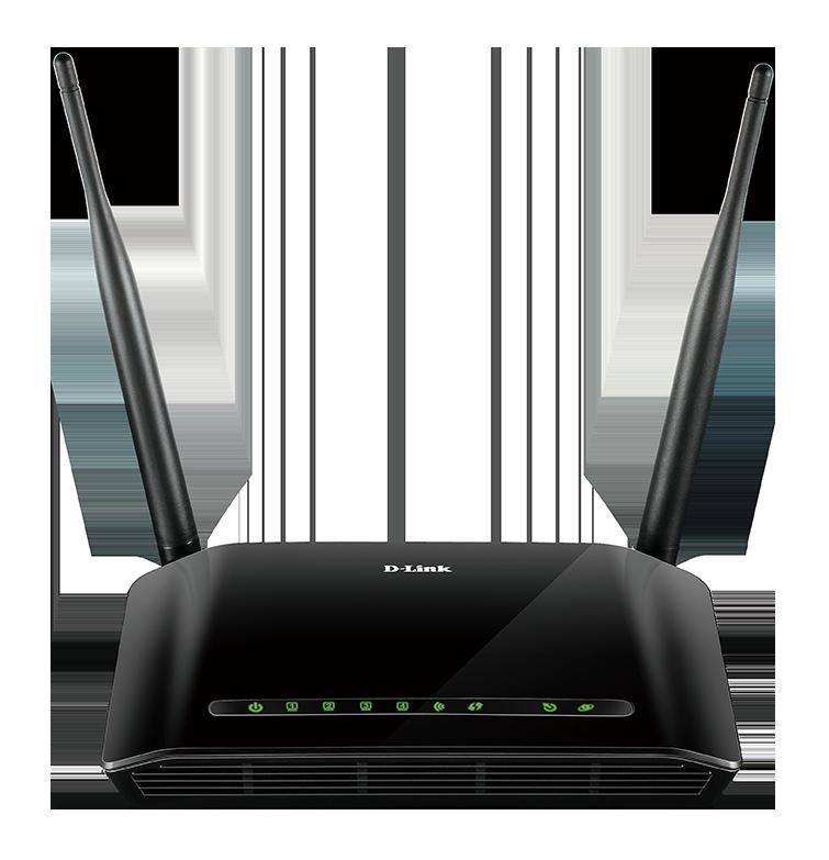 D-Link DSL-2740U Wireless N300 ADSL2+ Modem Router